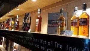Colecția de whiskey-uri premium quality.